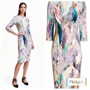H&M Watercolor Floral Pencil Dress